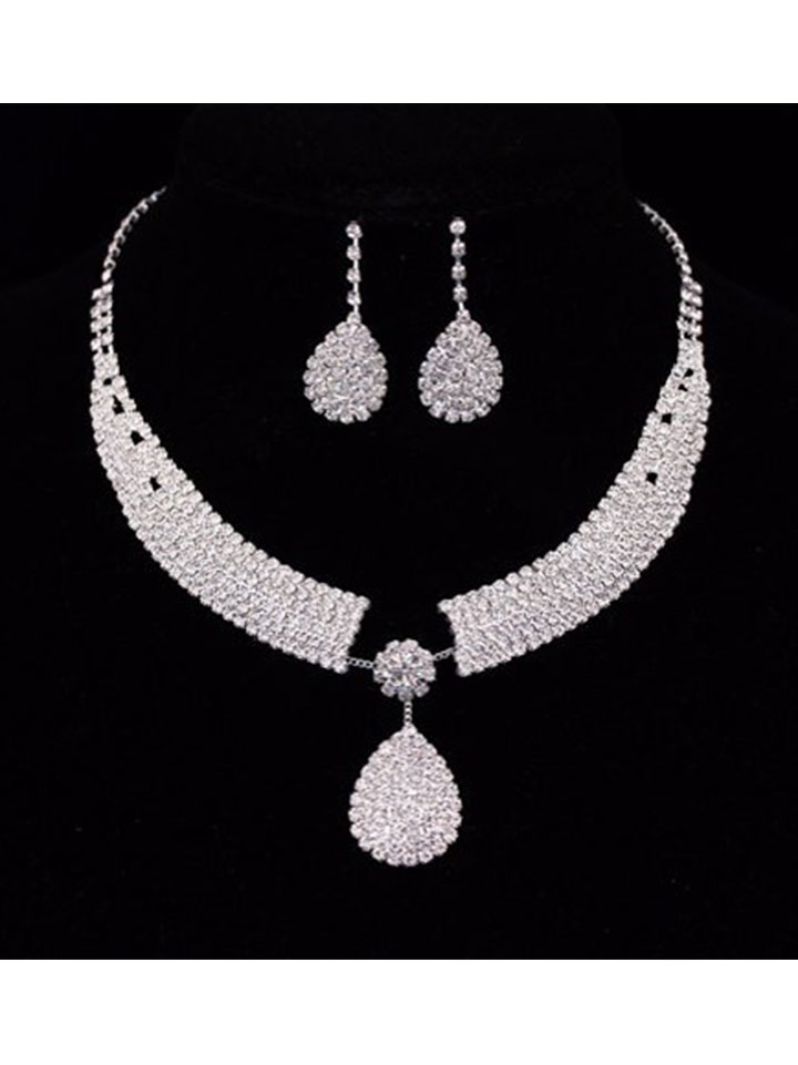 Necklaces Earrings Sets For Bridal Bridesmaid X1670 Share Social Zoom Images